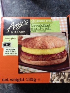 Amy's Kitchen giving us a gluten free breakfast sandwich that's also dairy free and vegan!