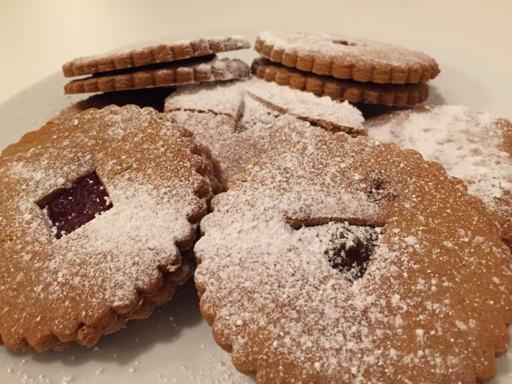 gluten free linzer biscuits