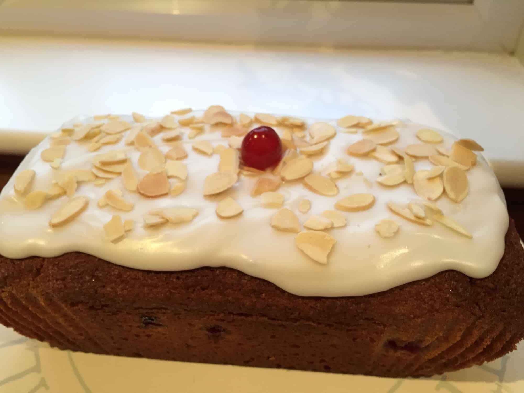 Gluten Free Bakewell Loaf Cake Recipe (dairy free & low FODMAP)