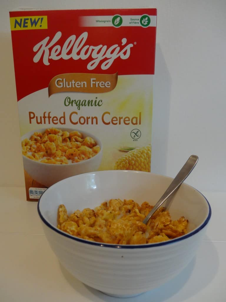 Puffed corn cereal