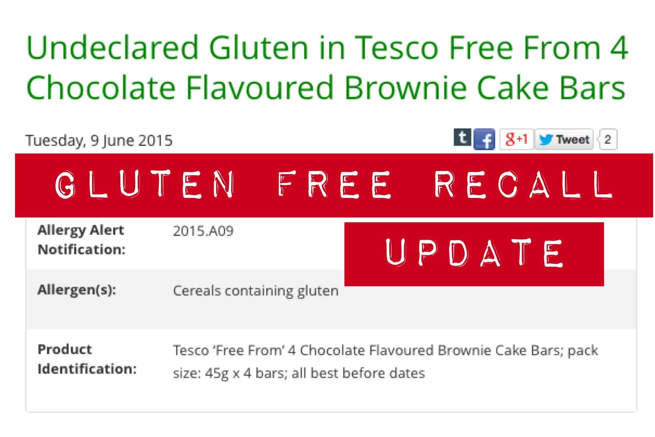 gluten free recall