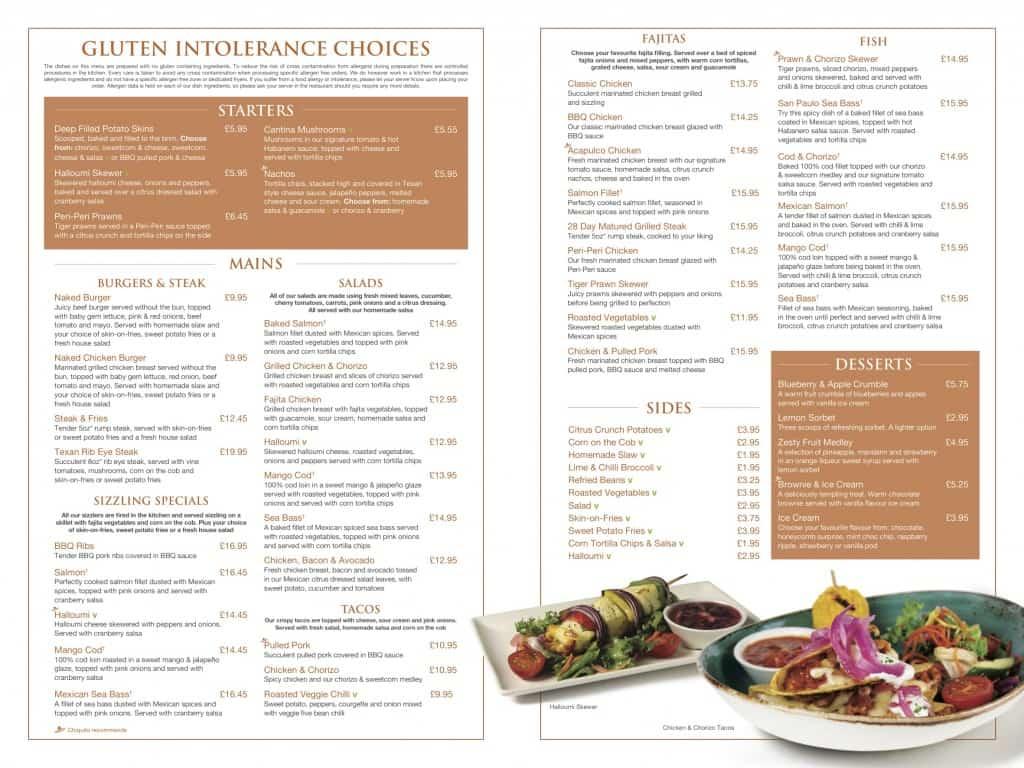 Restaurants With Gluten Free Menu Items