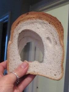 Gluten Free bread with a massive hole!