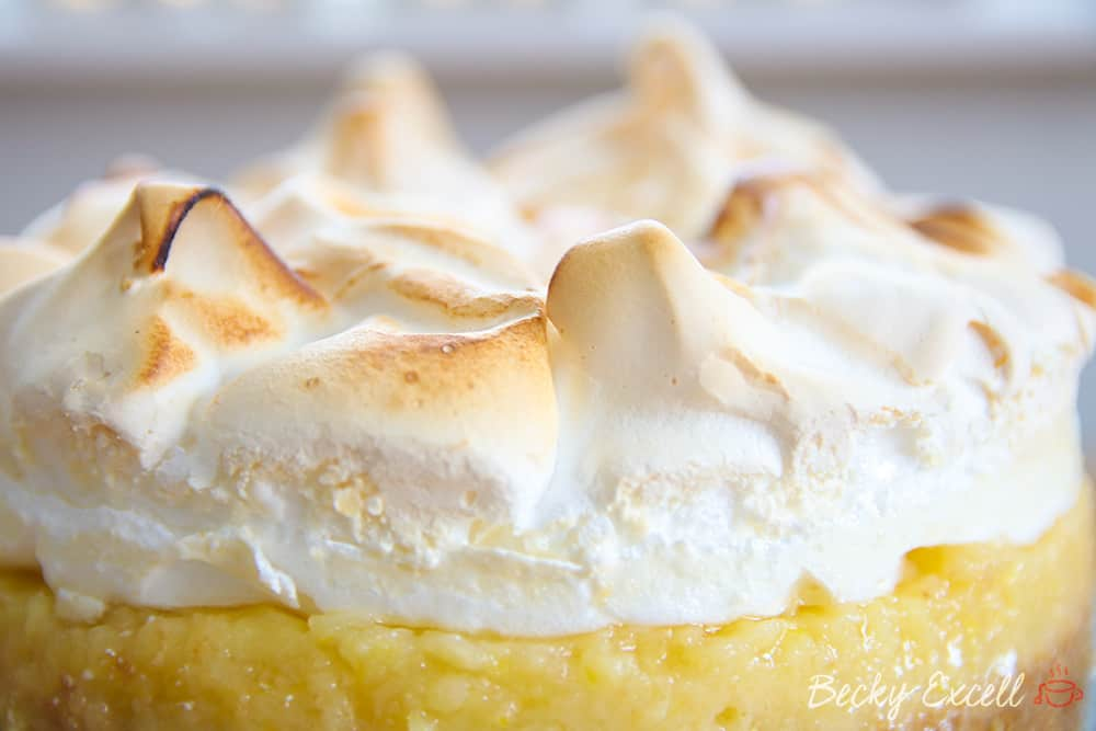 Gluten Free Lemon Meringue Pie Recipe w/ Biscuit Base (dairy free, low FODMAP)