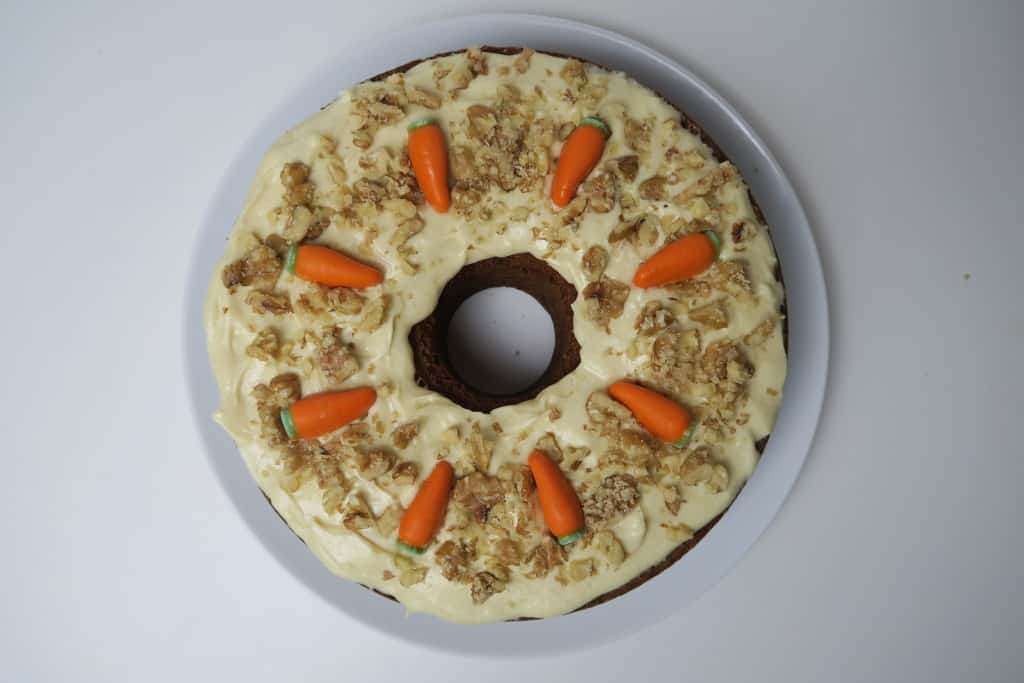 RECIPE: Gluten Free Carrot Cake with Dairy Free Cream Cheese Frosting