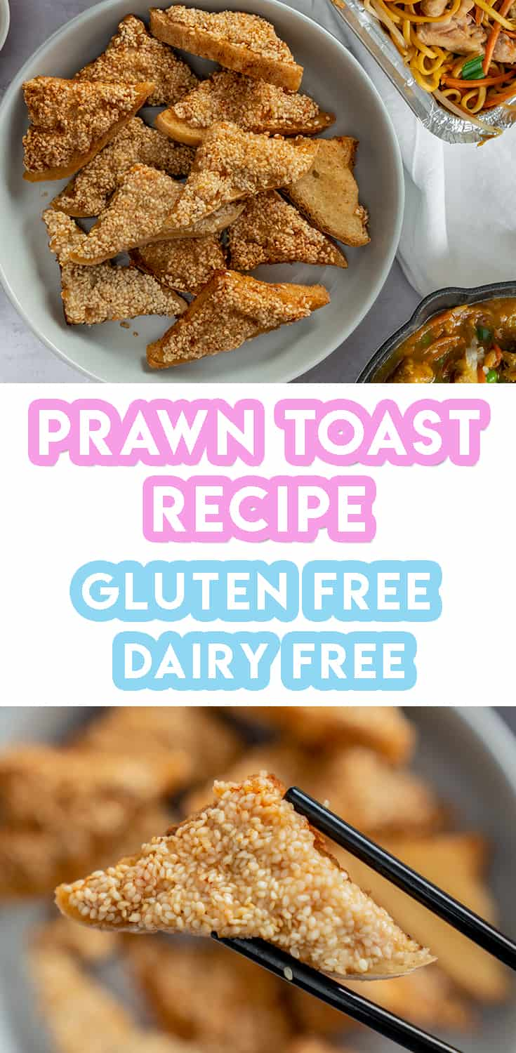 Gluten Free Prawn Toast Recipe - Takeaway style (dairy free and low FODMAP)