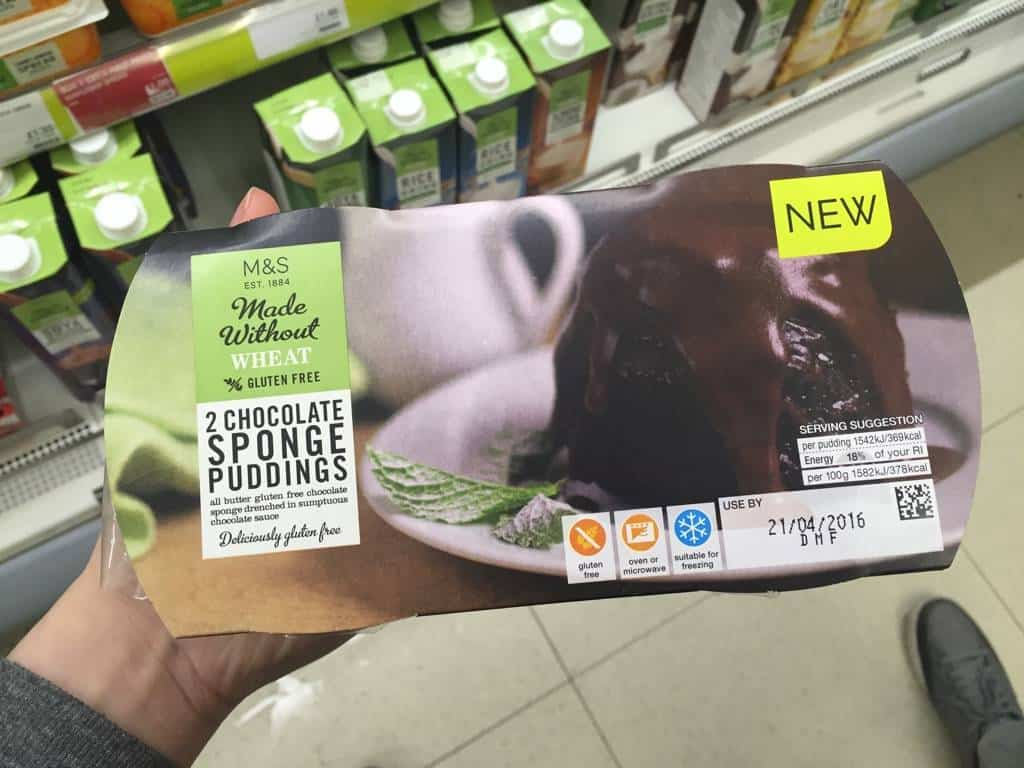 Marks And Spencer Gluten Free Food List