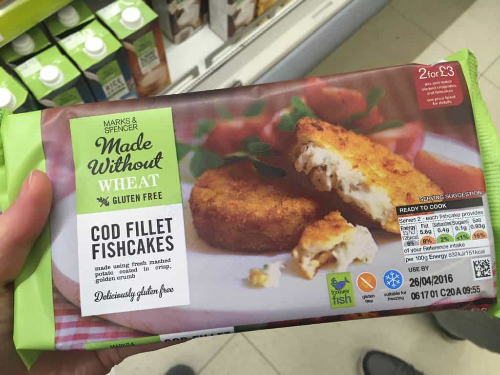 Marks And Spencer Gluten Free Cod Fish Cakes