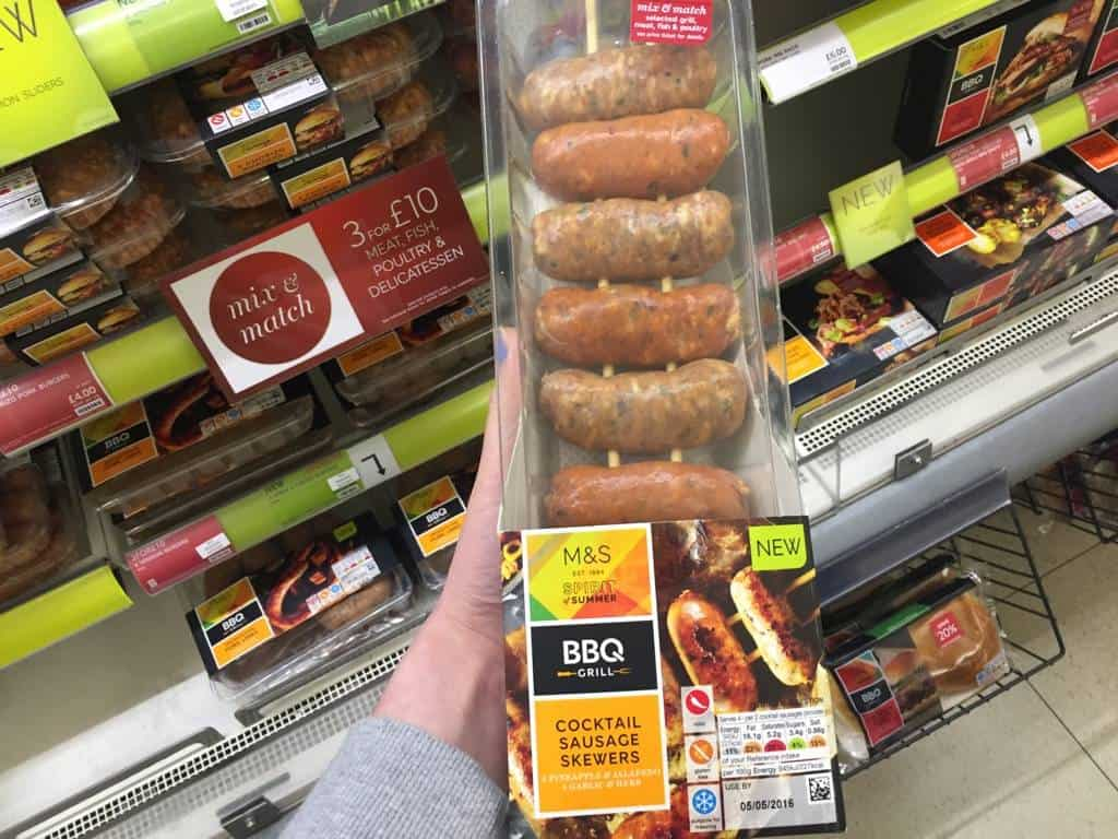 Cocktail sausages m and s