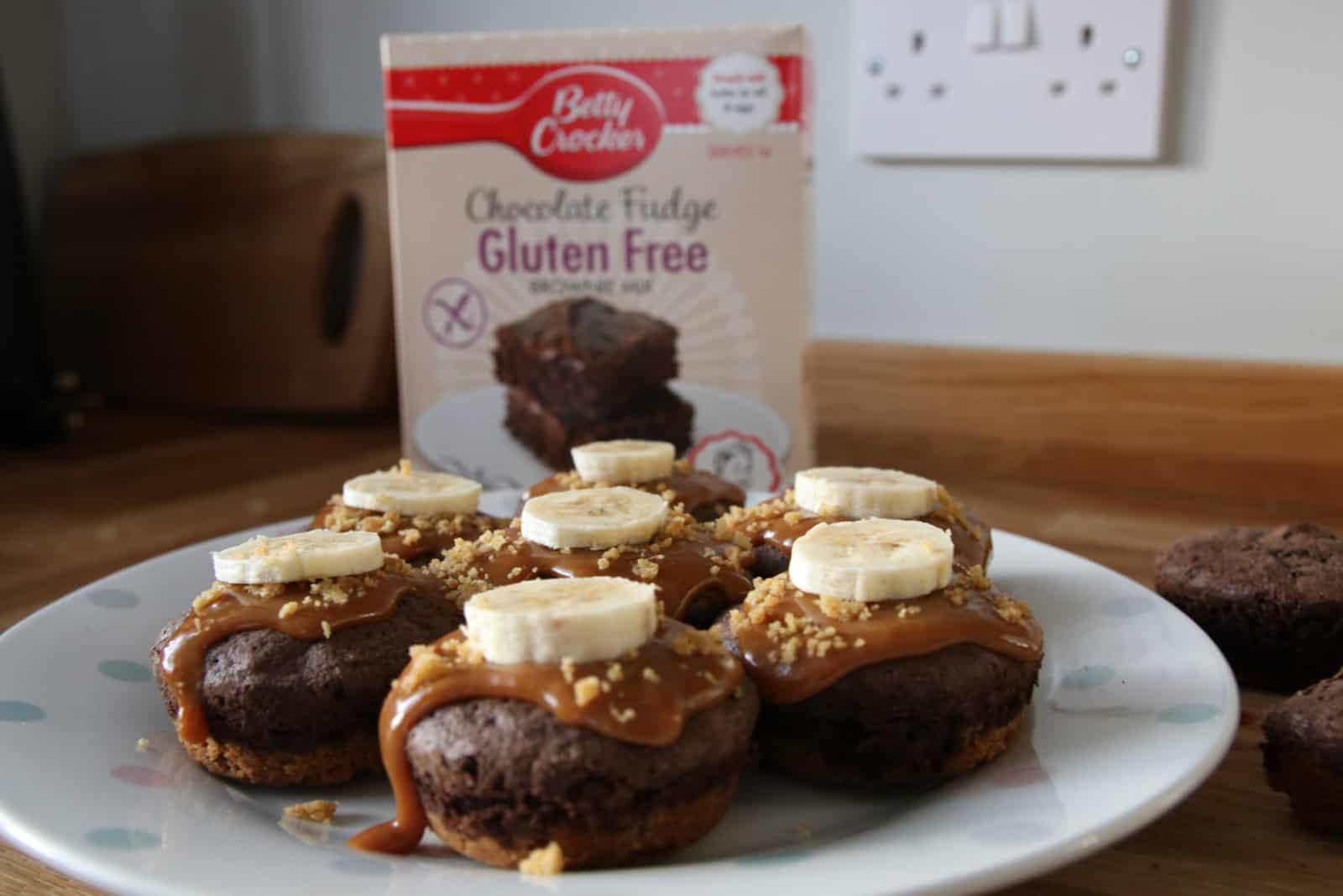 gluten free banoffee brownies