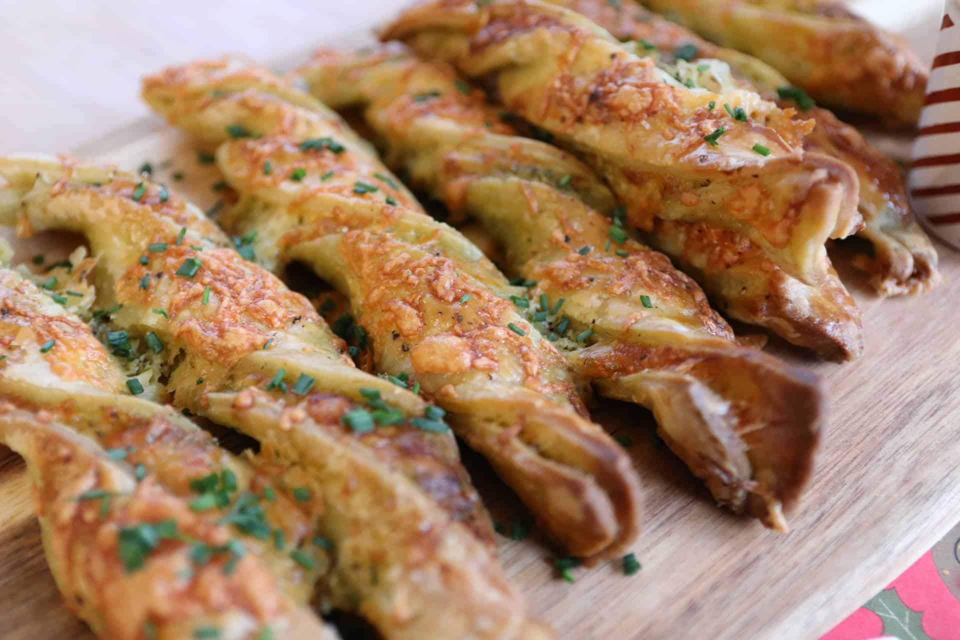 Gluten Free Cheese and Pesto Straws
