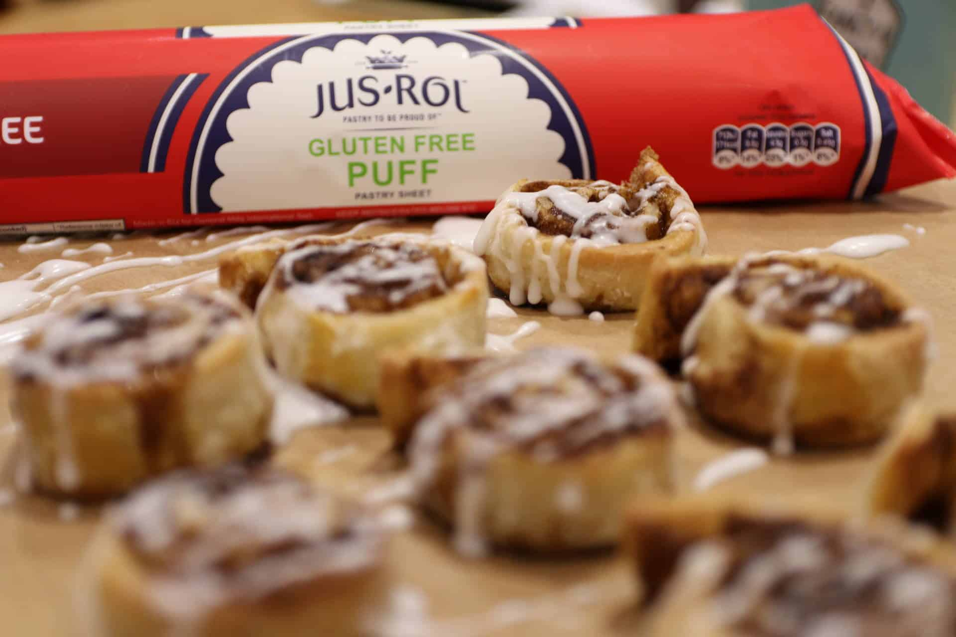 Gluten Free Cinnamon Rolls (Dairy Free & Vegan) using Jus-Rol Gluten ...