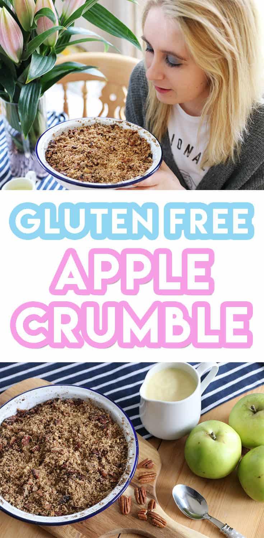 6-Ingredient Gluten Free Apple Crumble Recipe (vegan + dairy free)