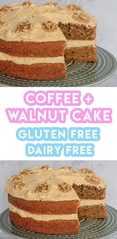 Gluten Free Coffee Walnut Cake Recipe Dairy Free