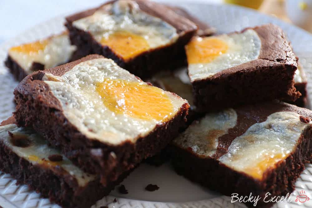 Gluten Free 'Sunny Side Up' Easter Cheesecake Brownies - Dairy Free too!