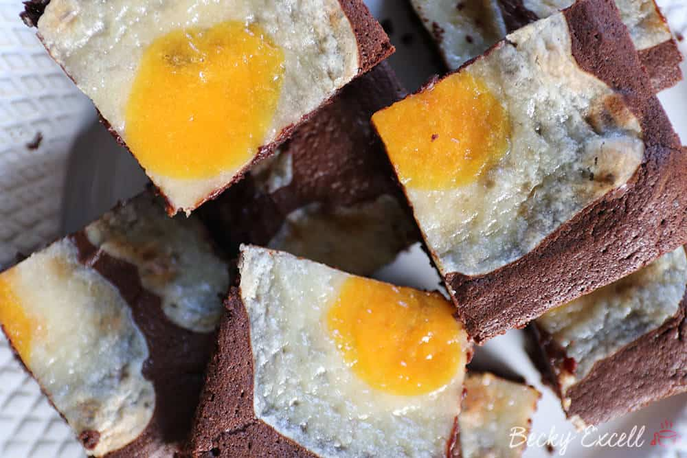 Gluten Free 'Sunny Side Up' Easter Cheesecake Brownies - Fried Eggs!