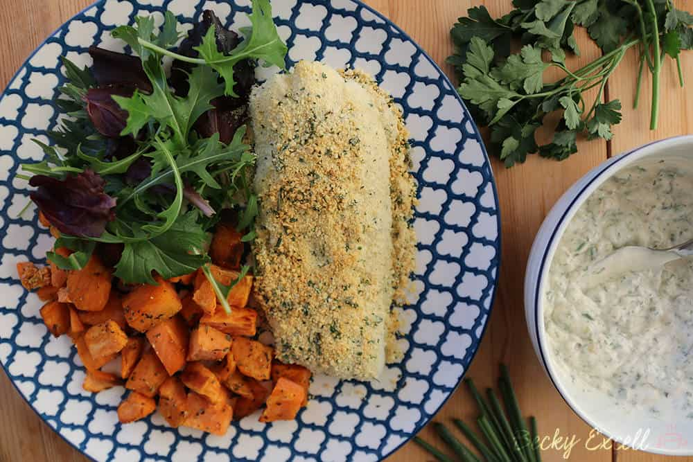 gluten free herb-crusted cod recipe