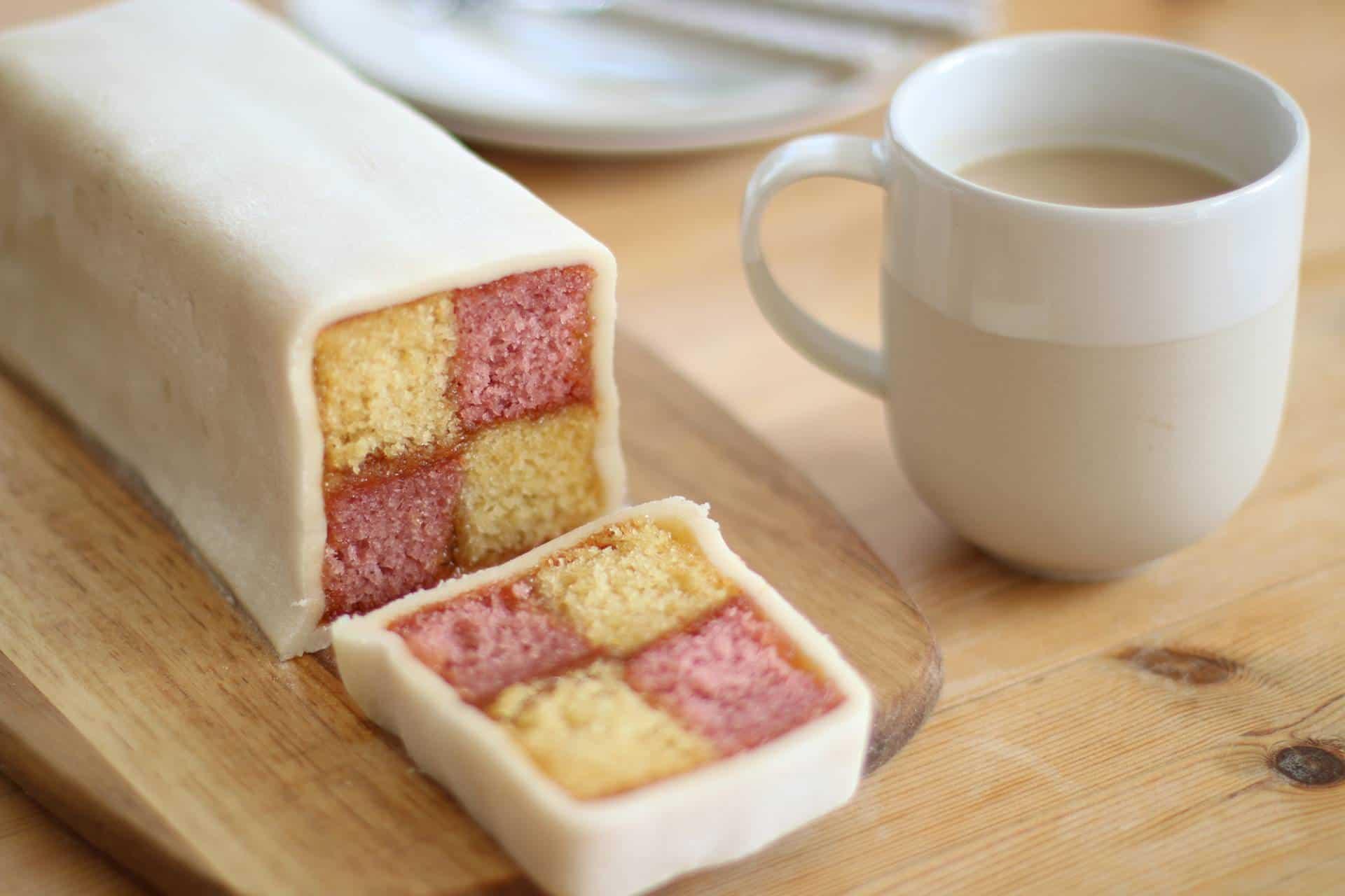 gluten free Battenberg cake