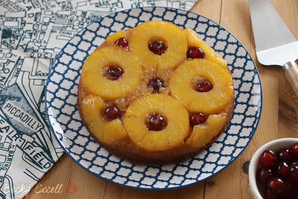 Gluten Free Pineapple Upside down Cake Recipe (low FODMAP, dairy free)