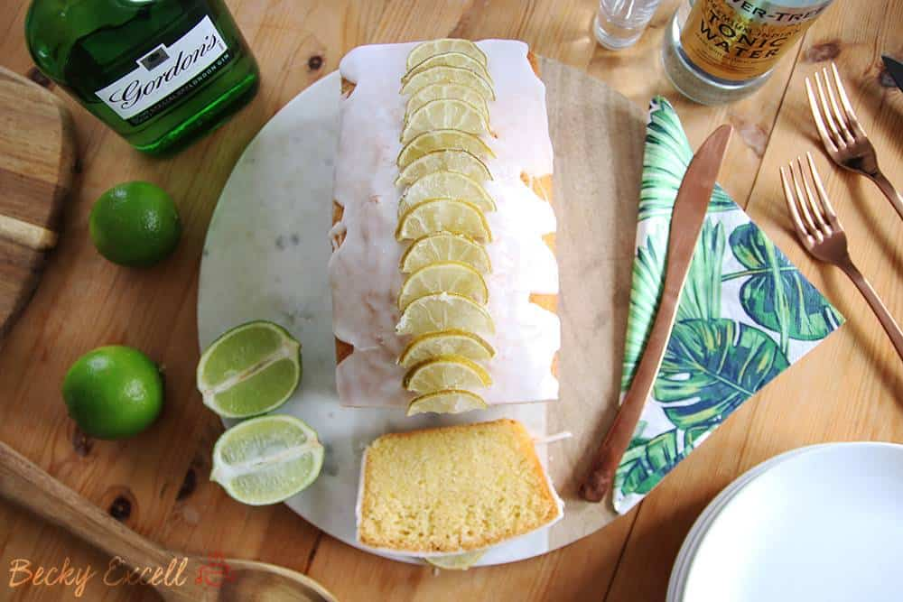 Gluten free gin and tonic loaf cake recipe