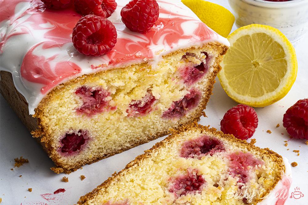 Gluten-free Raspberry and Lemon Loaf Cake Recipe (low FODMAP, dairy-free/vegan option)