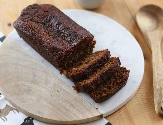 Sticky Gluten Free Gingerbread Loaf Cake