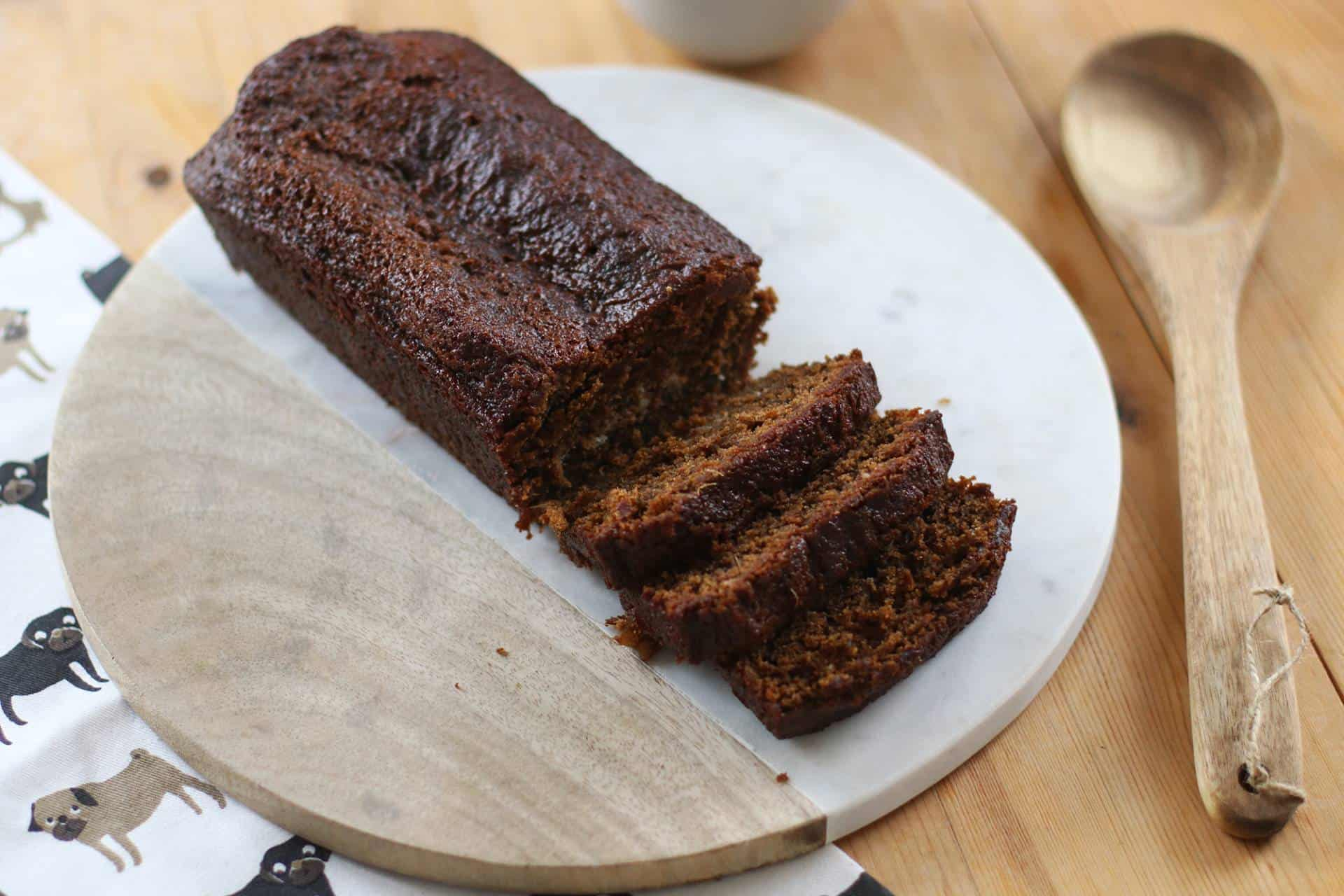 Sticky Gluten Free Gingerbread Loaf Cake
