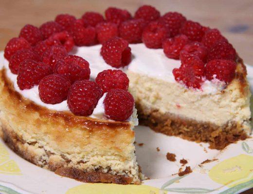 Gluten free baked lemon cheesecake recipe