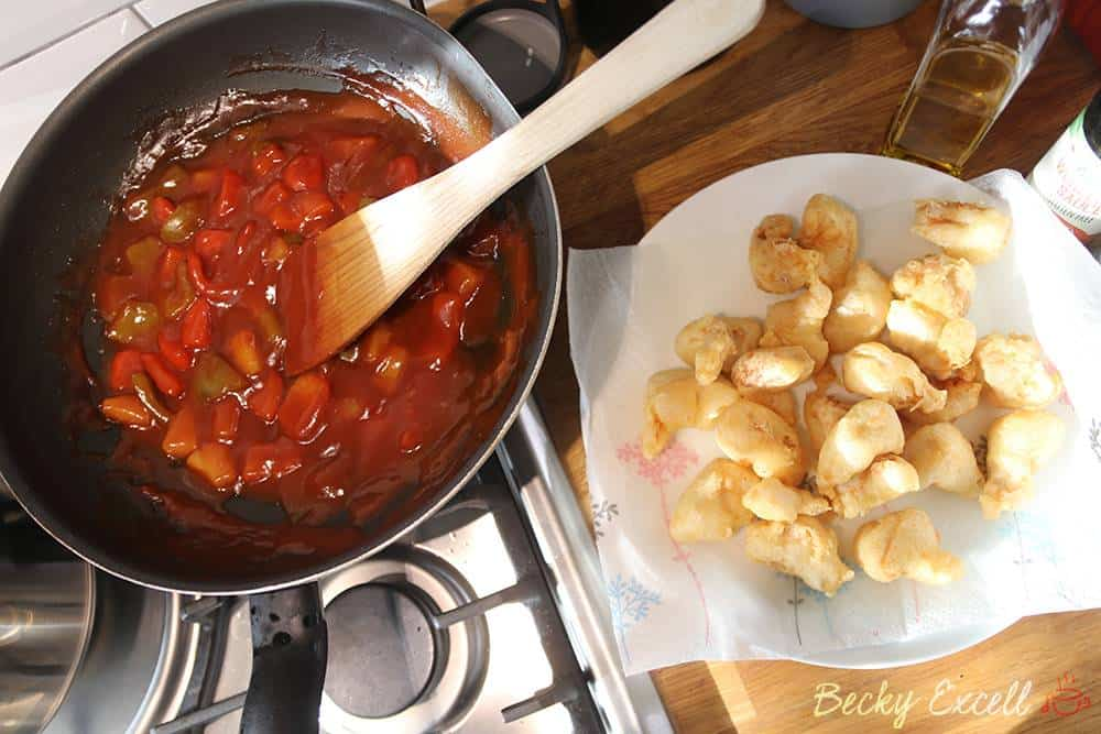 Gluten free sweet and sour chicken recipe takeaway (low FODMAP)