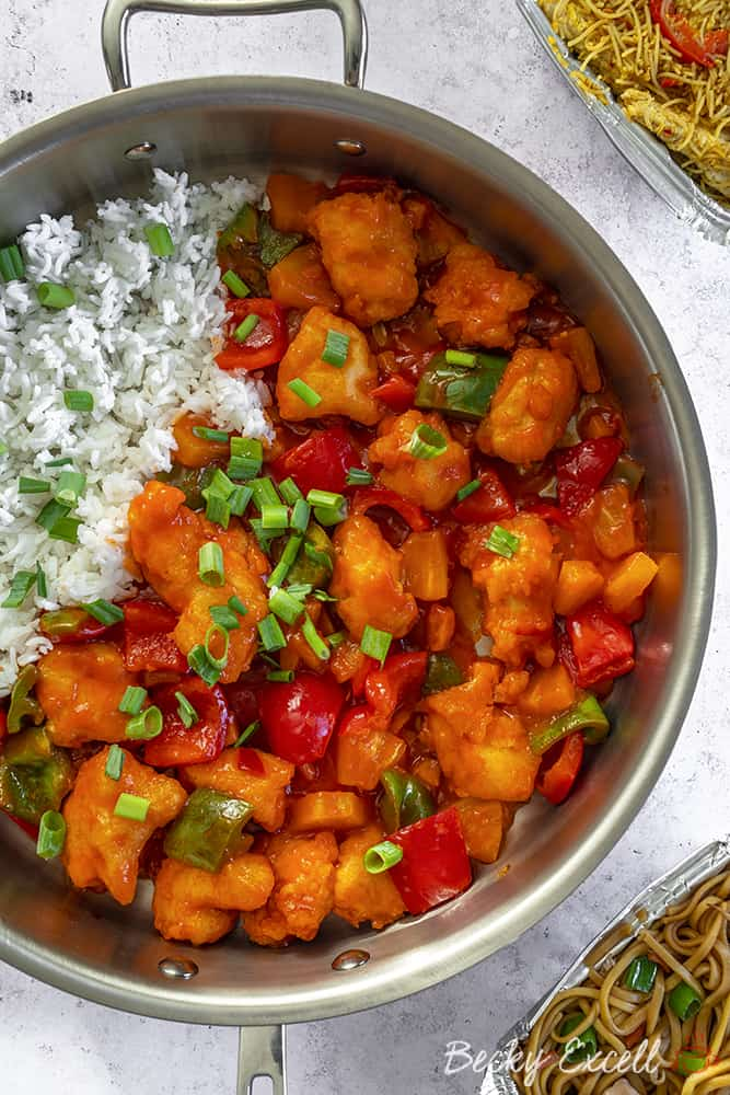 Gluten Free Sweet and Sour Chicken Recipe - Takeaway style (low FODMAP and dairy free)