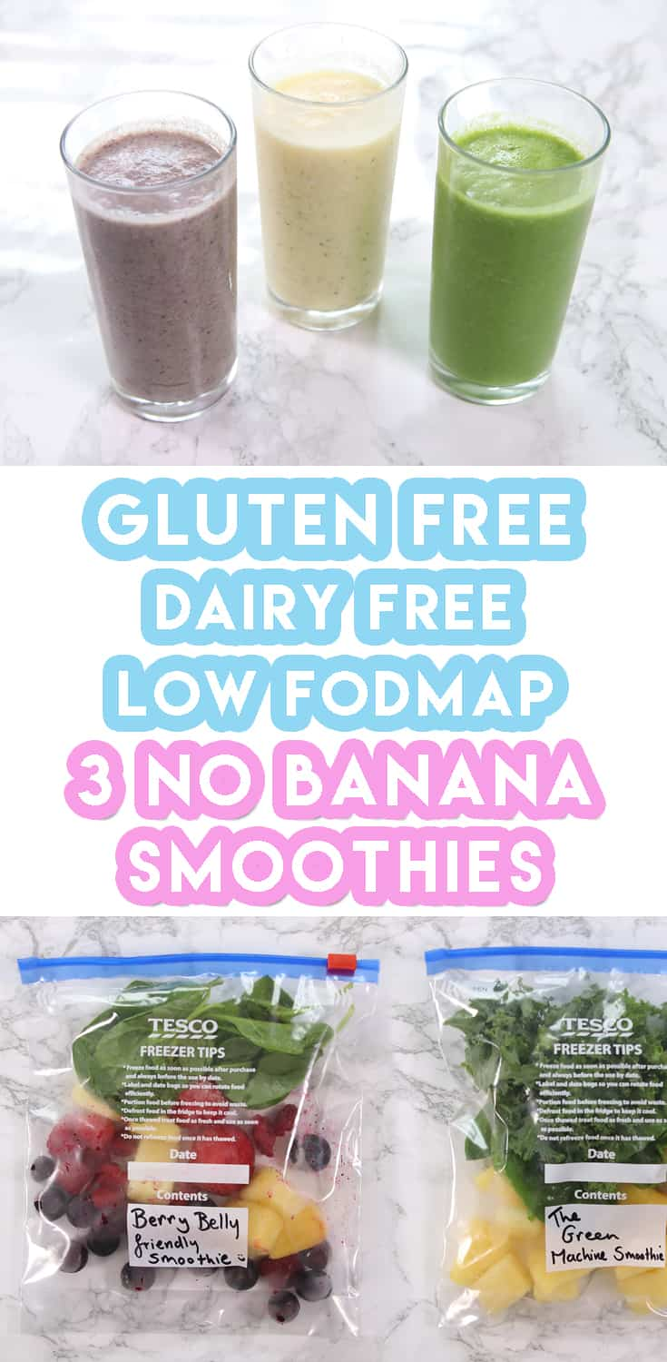 3 Low FODMAP Smoothie Recipes For Weekly Meal Prep (no banana & dairy free)
