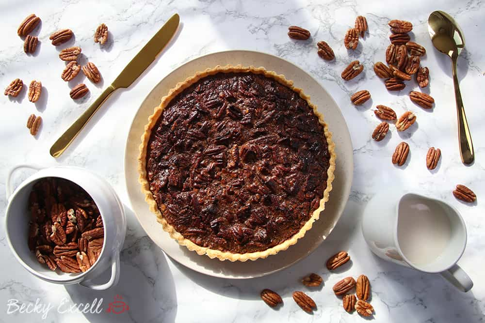 My Gluten Free Maple Pecan Pie Recipe (dairy free and low FODMAP)