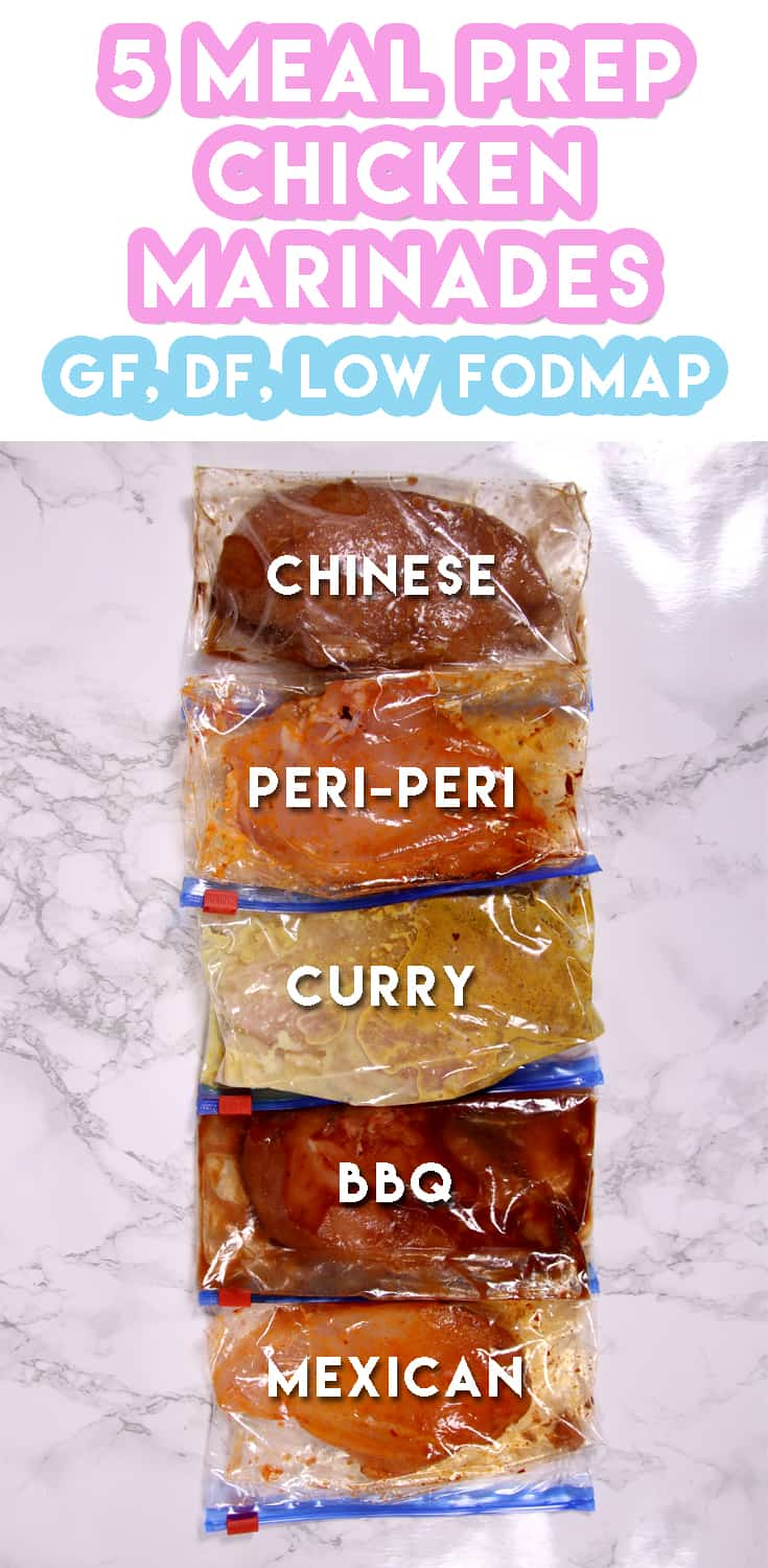 5 Low FODMAP Chicken Marinade Recipes For Weekly Meal Prep (gluten free & dairy free)