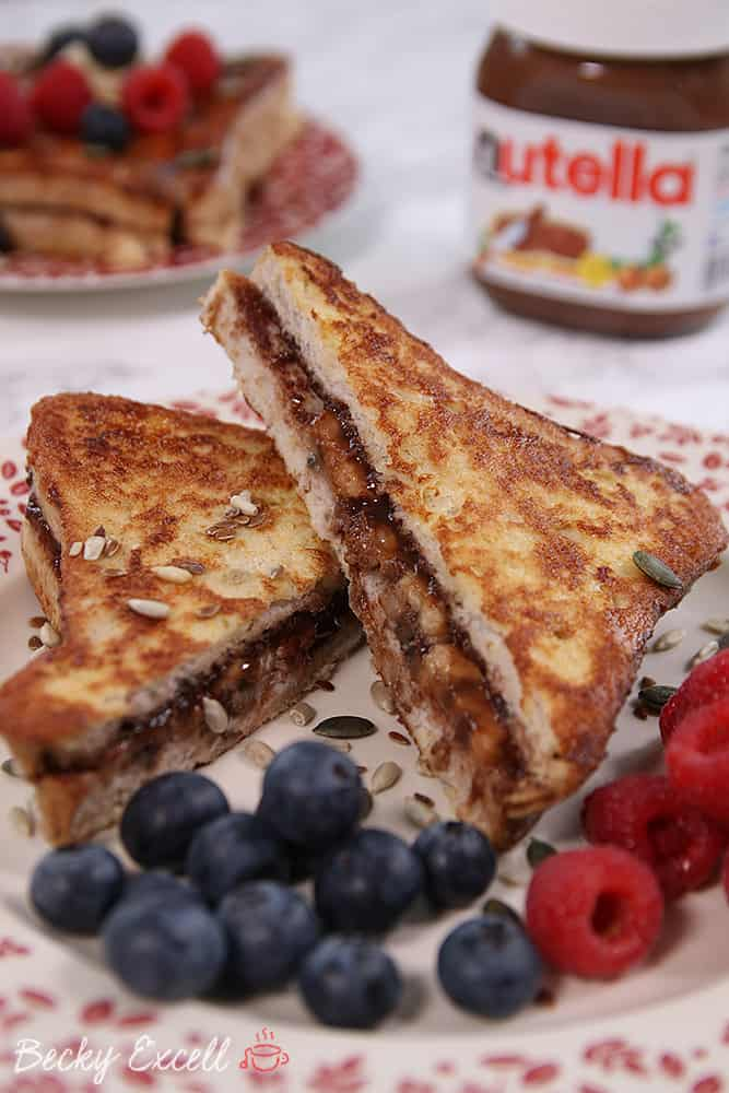Gluten Free French Toast Recipe with Nutella