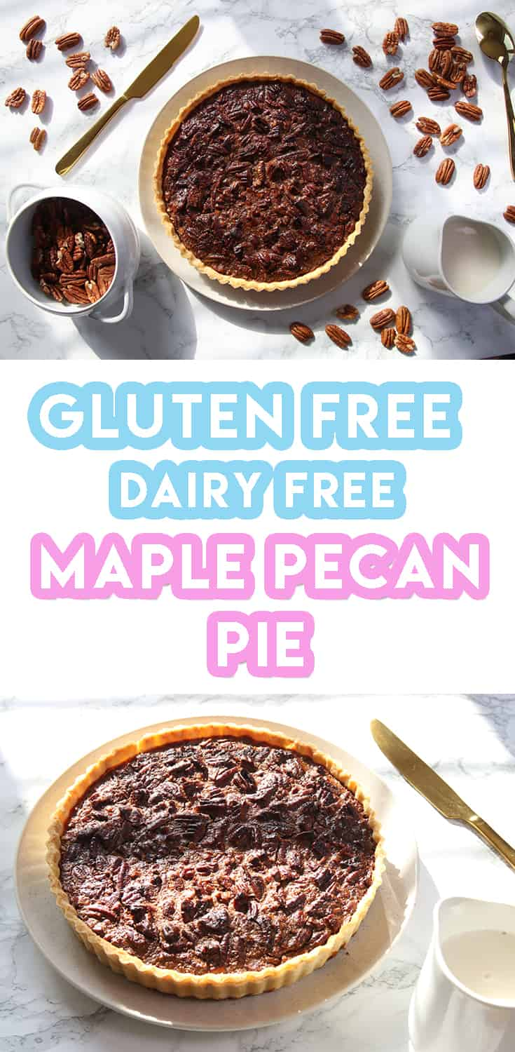 gluten free maple pecan pie