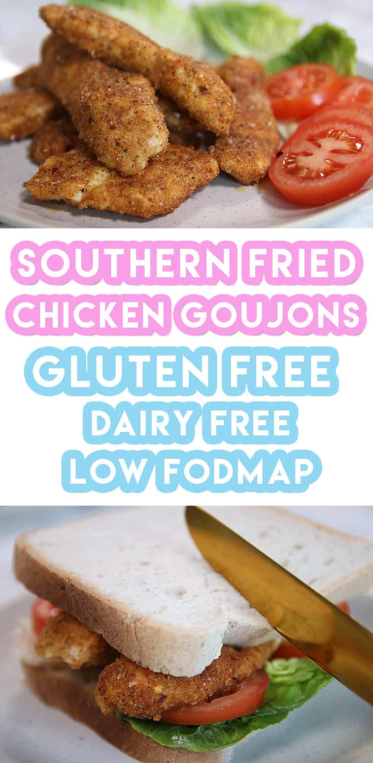 Gluten free southern fried chicken goujons recipe (low FODMAP dairy free)