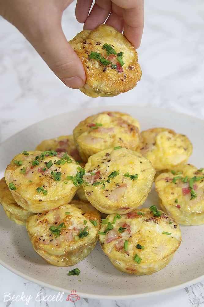 My Leftover Turkey and Bacon Mini Frittatas Recipe (dairy free & low FODMAP)