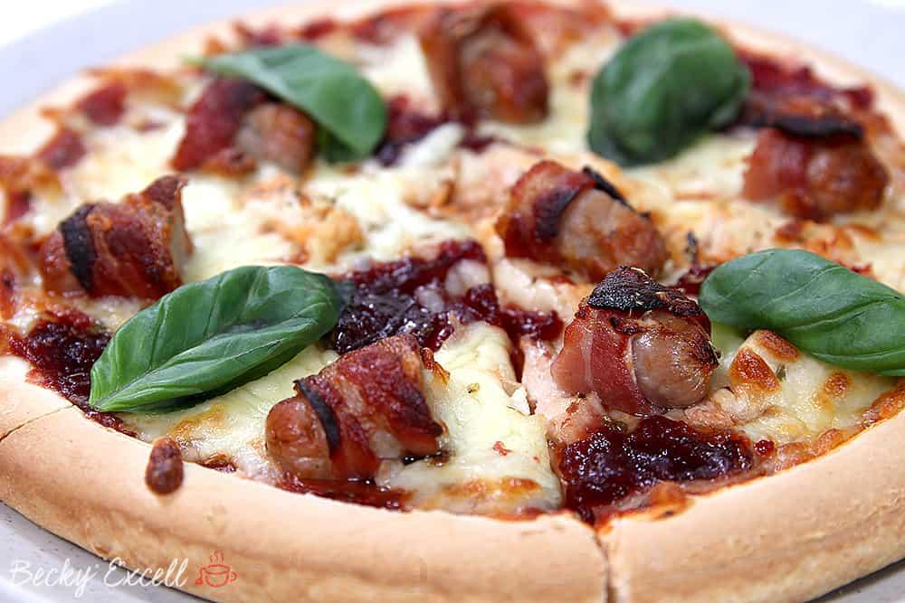 My Leftover Turkey Gluten Free Christmas Pizza Recipe (dairy free & low FODMAP)