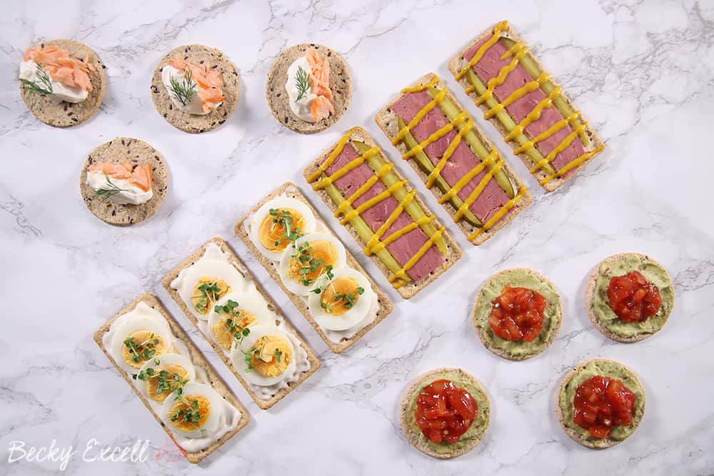 4 fancy yet simple gluten free canapé ideas (dairy free & low FODMAP)