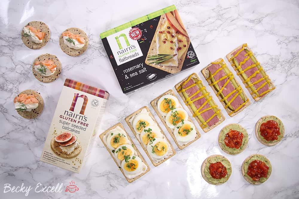 4 fancy yet simple gluten free canapé ideas (dairy free & low FODMAP)