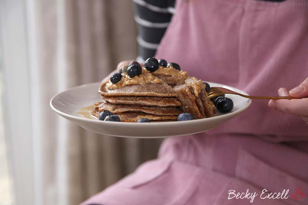 My gluten free and vegan buckwheat pancakes recipe (low FODMAP)