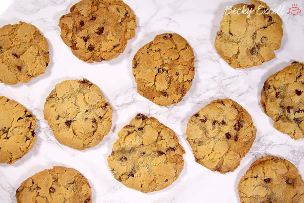 My Chewy Gluten Free and Vegan Chocolate Chip Cookies Recipe (low FODMAP, egg free)