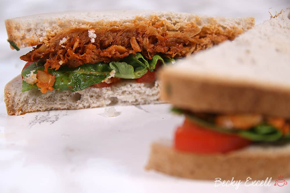 Gluten Free and Vegan Pulled Jackfruit Recipe (low FODMAP)