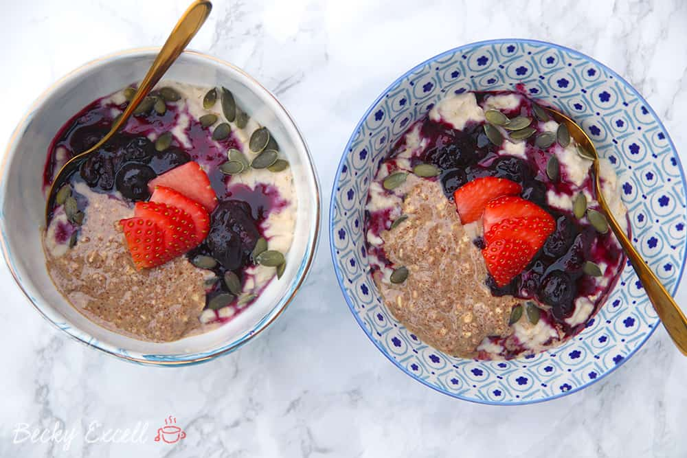 My Gluten Free and Vegan Blueberry Porridge Recipe (low FODMAP)