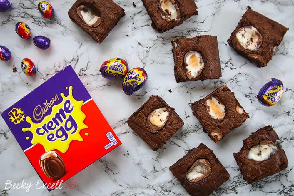 My Gluten Free Creme Egg Brownies Recipe