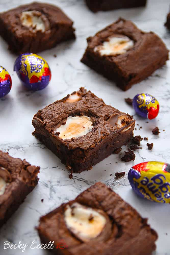My Gluten Free Creme Egg Brownies Recipe