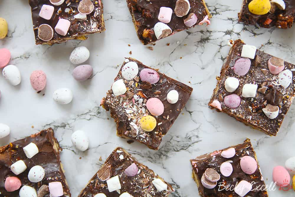 My gluten free mini eggs rocky road recipe