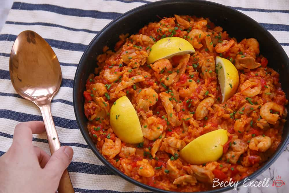 My Gluten Free Paella Recipe (low FODMAP, dairy free)