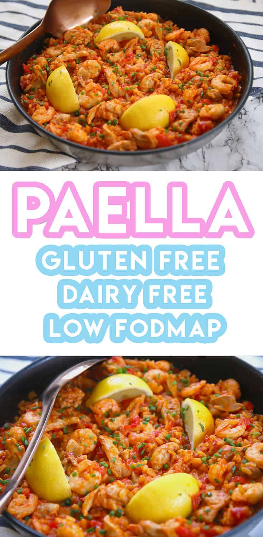 My Gluten Free Paella Recipe (low FODMAP, dairy free)