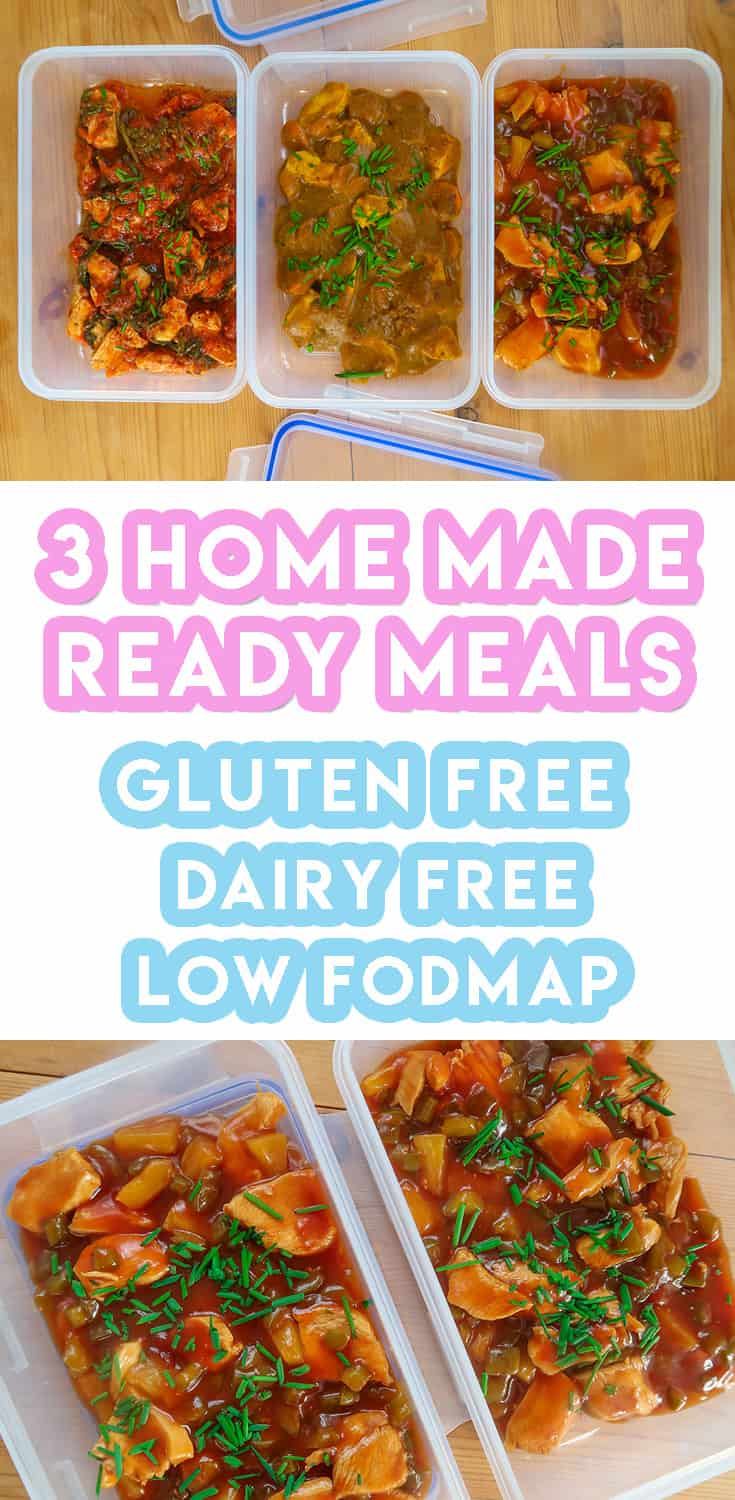 3 Homemade Ready Meals For Weekly Meal Prep (gluten free, low FODMAP)